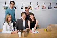 Creative agency staff meeting