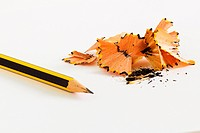 Sharpened Pencil with shavings