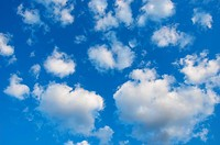 Blue sky and white clouds floating backdrop