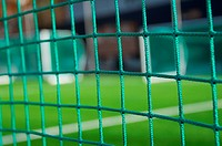 Mesh on football goals background