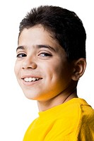 Closeup of boy smiling