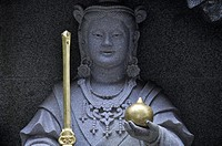 Kamakura, Kanagawa, Japan, statue at Enoshima Island