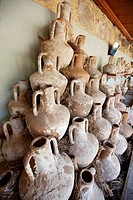 Amphorae on display  Museum of Underwater Archaeology, Bodrum, Turkey
