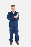 Technician holding locking pliers