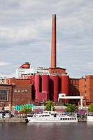 area of the market square of laukko and the tako factory which produces paper, tampere, finland, europe