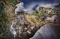 Aerial of Boreal forest Nunavik, Quebec, Canada