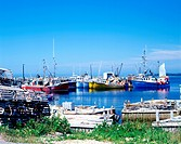 Fishing Boats Near Yarmouth, Nova Scotia is Canada´s most Eastern Province. It´s seashore are bordering on the Atlantic Ocea. It´s major industry is f...