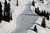 Snow covered ski piste
