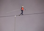 June 15 2012 Nik Wallenda Tightrope walking across Niagara Falls, Ontario, Canada