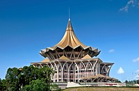 The Sarawak State Legislative Assembly Building, Kuching, Borneo, Malaysia, Asia