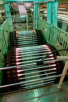 Manufacture of fluorescent tubes at a Siemens_Osram plant in Germany.