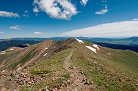 Summit Ridge of New Mexico´s Highest Point, Wheeler Peak