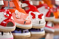 colorful children´s shoes