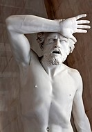a marble statue in the Hermitage Museum.