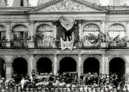 President McKinley Making Speech in New Orleans