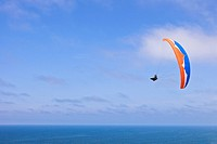 Paraglider above Pacific Ocean, San Diego, California, USA, America