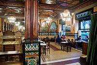 Interior design of the Iruna Bar, PintxoTapas Bar Iruna, Bilbao, Basque Country, Spain