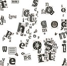 Abstract newspaper´s art letters