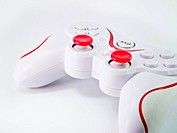 Joystick on white backgroun