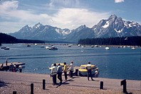 Colter Bay, Jackson Lake, Grand Teton National Park, Wyoming, USA, 1968