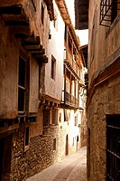 Albarracin streets and houses, Spain