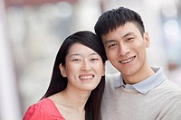 Smiling Chinese couple
