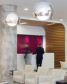 Montefiore Hospital, Brighton and Hove, United Kingdom. Architect: Nightingale Associates, 2012. Interior view of reception area.