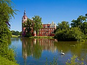 New Castle in Muskau Park, Bad Muskau, Upper Lusatia, Saxony, Germany