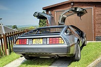 The DeLorean DMC-12 from the early 1980's made famous in the film 'back to the future'