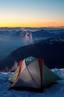 Climbing Mount Baker.