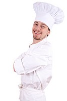 cheerful male cook