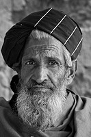 portrait of an Afghan old man