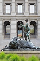 Closing Era statue, State Capitol Building, Denver, Colorado, United States of America, North America