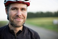 Portrait of mid-adult male street bicyclist (thumbnail)