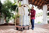 Bellhop with luggage