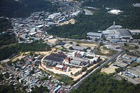 Aerial view of industrial estate, Manaus, Amazonas, Brazil, South America