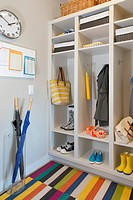 Modern mud room with plenty of storage