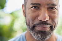 Portrait of serious African American middle_aged man