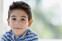 Portrait of cute Latin American boy