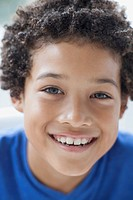 Portrait of smiling, preteen boy