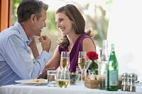 Middle_aged couple having a romantic dinner