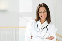 female doctor in medical center environment