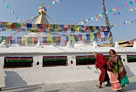 Boudhanath, UNESCO World Heritage Site, Kathmandu, Nepal, Asia