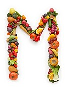Letter M in produce