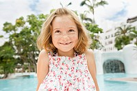 Portrait of girl 4_5 at poolside