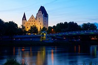 Neues Schloss castle, Danube river, Ingolstadt, Upper Bavaria, Bavaria, Germany, Europe