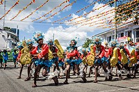 Participants of the dance contest during the celebration of Dinagyang in homage to 'The Santo Ni&#241;o', the patron saint of many Philippino cities  Iloil...