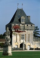 The keep of Chateau de la Roche Courbon, Saint-Porchaire, Poitou-Charentes. France, 15th-18th century.