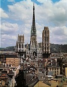 View of the Cathedral of Notre-Dame, Rouen, France, 13th-16th century.