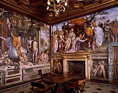 Frescoes by Giovanni Antonio Bazzi known as Il Sodoma (1477-1549), wedding chamber, Villa Farnesina, Rome. Italy, 16th century.